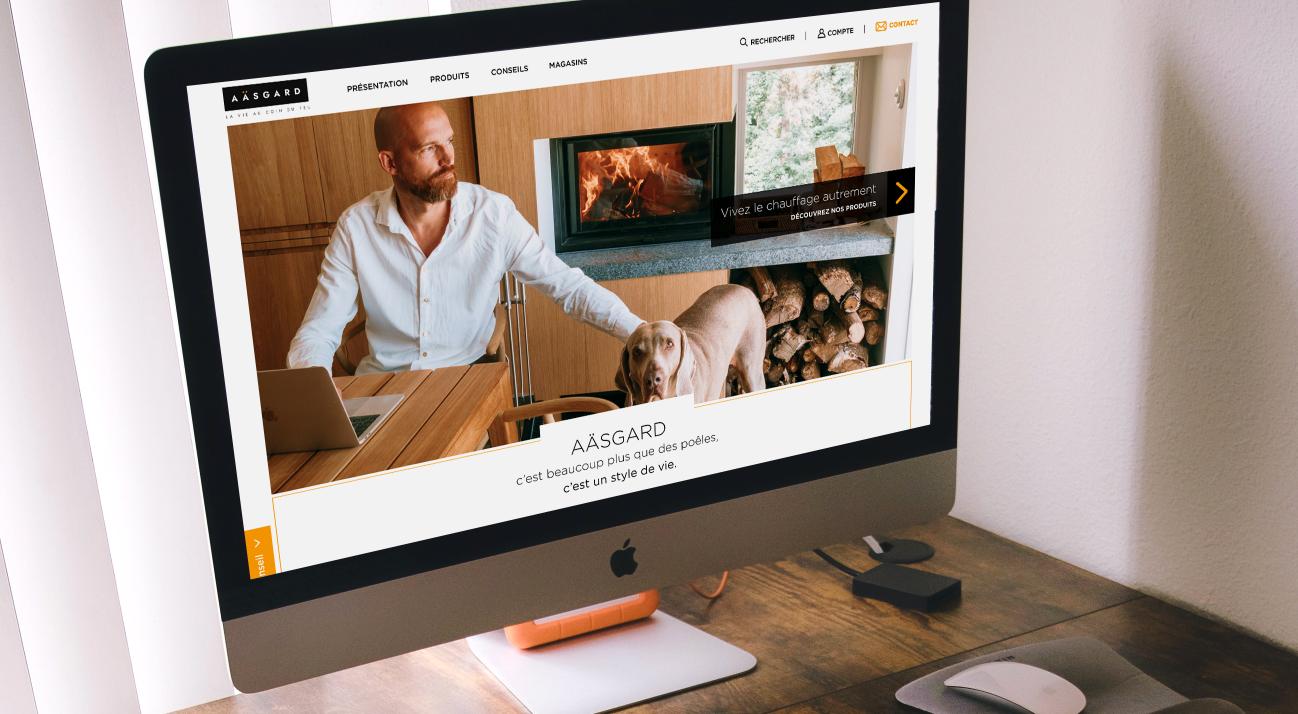 Mockup UI Design site de chauffage/poële/Accueil