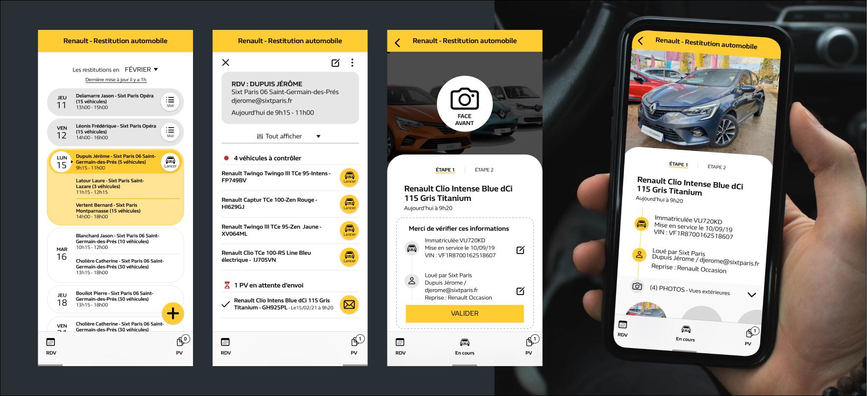 UI design d'une application mobile pour garages automobiles
