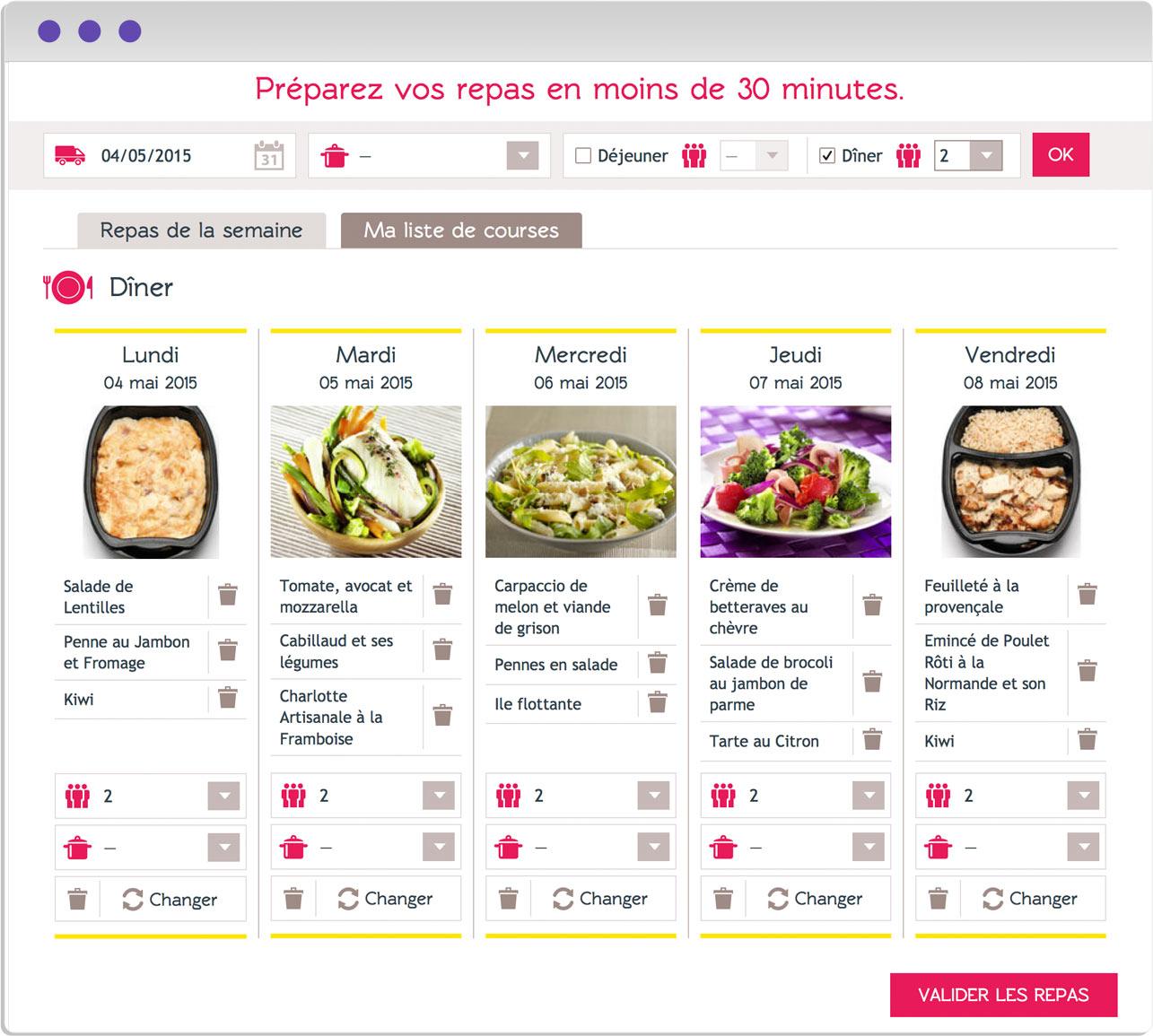 Design du planning/repas - AnneB